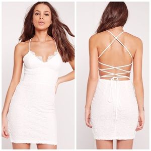 Missguided Dresses & Skirts - NWT Missguided Lace Strappy Back Dress