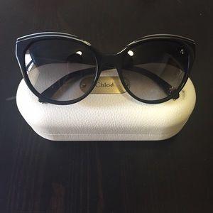Chloe Cat Eye Acetate Star Sunglasses