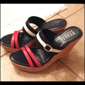 New Italian Shoemakers Sz 8 wedge sandals