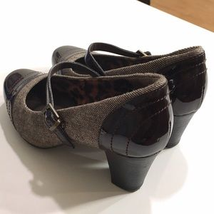 Clarks Shoes - Clarks Brown Tweed Mary Janes
