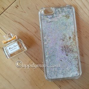 🆕 Silver Liquid Glitter iPhone 6/6 Plus case