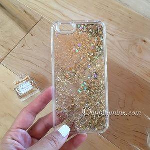 🆕 Gold Liquid Glitter iPhone 6, 6+ Case