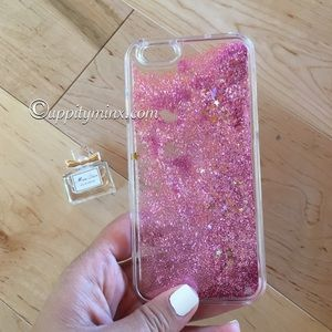 🆕 🎉 HP🎉 Pink Liquid Glitter iPhone 6, 6+ Case