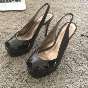 Sexy black bebe stilettos