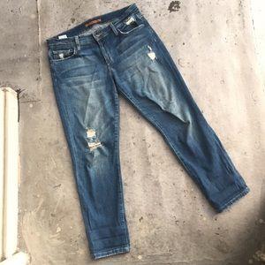 Joe's Jeans Jeans - Joe's Destroyed Ripped Easy Crop Boyfriend Jeans