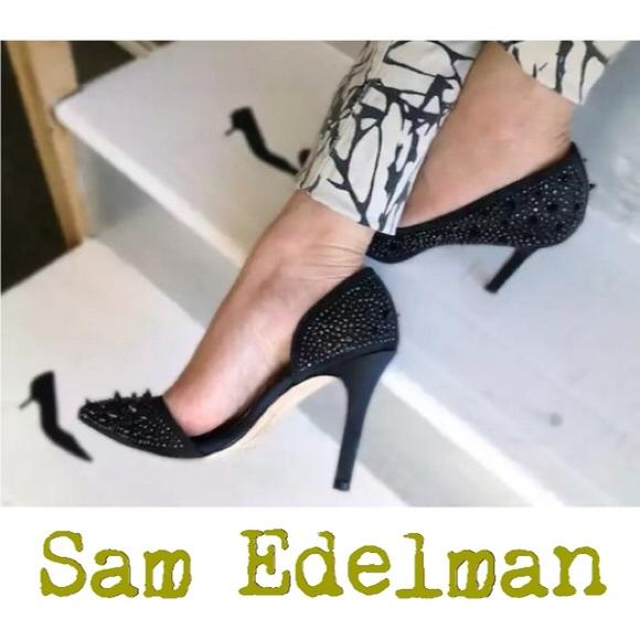 81c03c5d558d59 Sam Edelman Pixie Spike + Studded High Heels. M 57978af2f739bc985a004d24