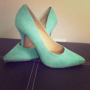 Charlotte Russe teal heels