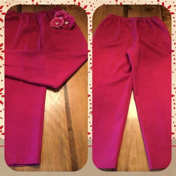 4727dc0188dc2 Alfred Dunner Pants - Alfred Dunner Raspberry Dress Slacks Size 18W
