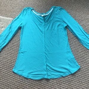 Anthropologie Teal Blue Long Sleeve Tee