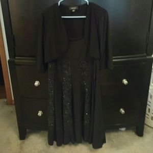 Party dress with overcoat