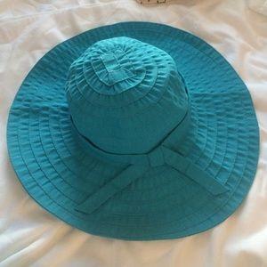 Scala Accessories - 🎉HP🎉NWOT SUN HAT UPF 50+ BLUE WIDE BRIM SUMMER