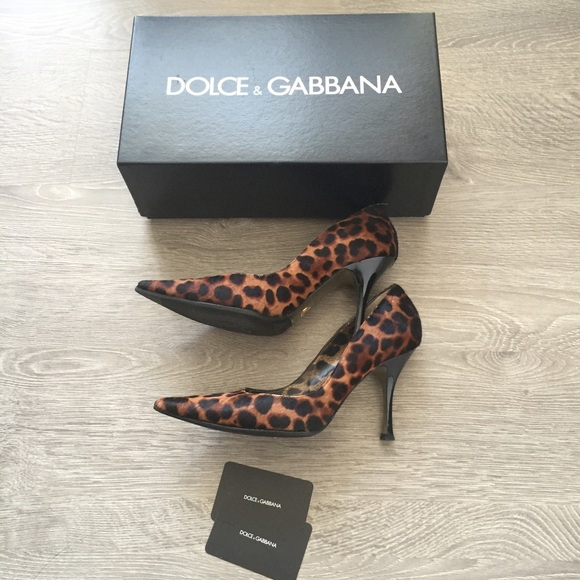 834da85a020f Dolce & Gabbana Shoes | Dolce Gabbana Pony Hair Leopard Print Pumps ...