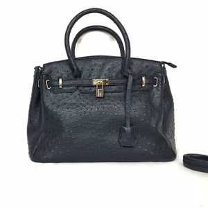 JUSTFAB law bag faux ostrich inspired tote