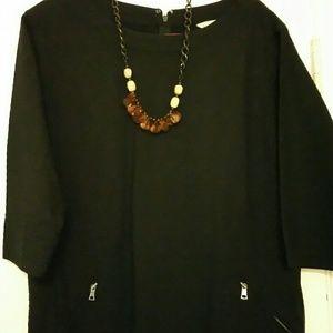 Gap Dresses - GAP Navy blue quilted shift dress