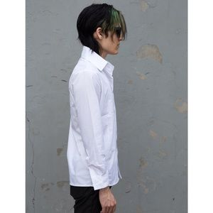 boutique Shirts - White Slimfit Mens Dress Shirt Button Front NEW