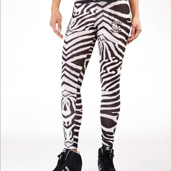 b028468b077 adidas Pants | Original Zebra Print Legging | Poshmark