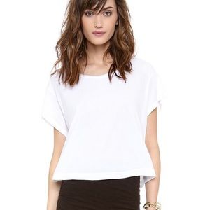 RUBBISH Box Crop Open Weave Knit Top Boat Neck