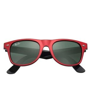 NEW! Ray-Ban Kids Wayfarers, Red/Black, 44 mm