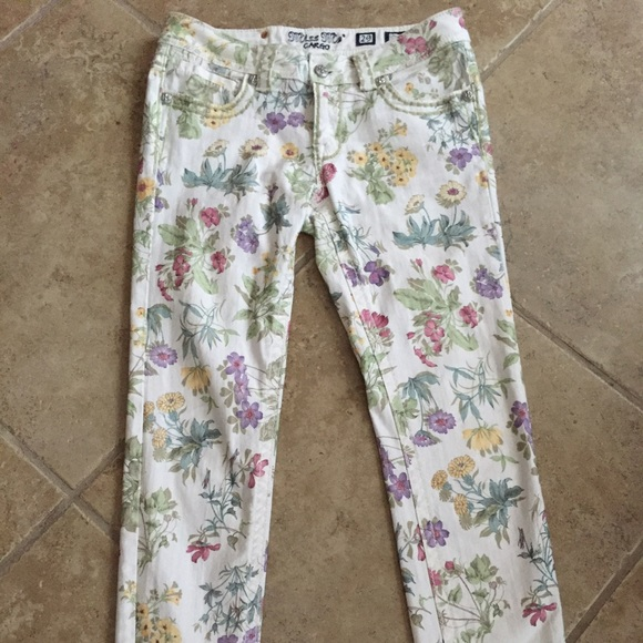 9ccc8cb715a Miss Me Floral Botanical Ankle Skinny Jeans Sz 29.  M 5797b0396a58309b180006af