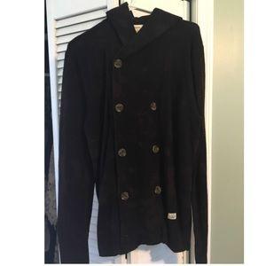 Men's Diesel hooded wool jacket