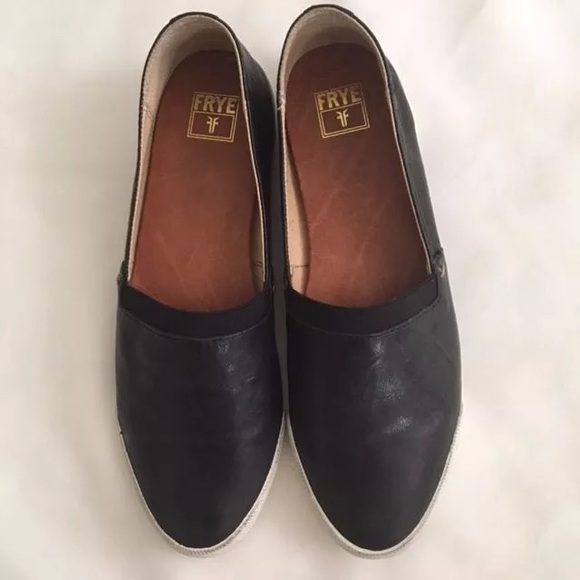 Frye Melanie Slip On Black Sneaker Flat