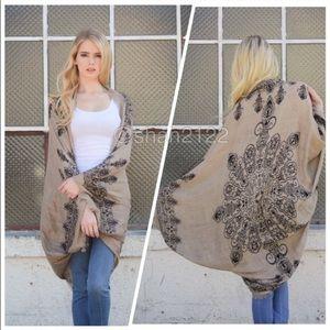 Kimono scarf cardigan wrap cocoon cover up new