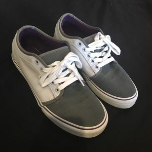2ab9abcee8 Vans Chukka Low White Grey   Purple Shoes