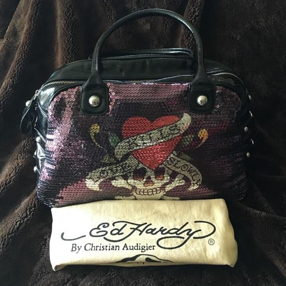e7ff07ba200c Ed Hardy Handbags - Ed Hardy Sequined Purse 👜