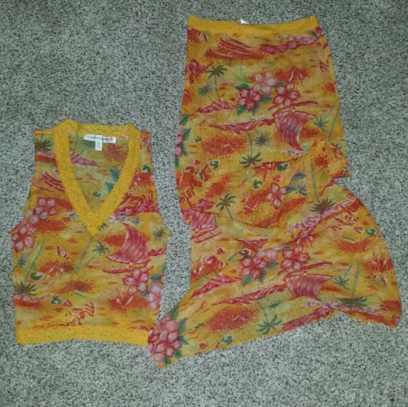 Victoria's Secret Intimates & Sleepwear - (3/$23) Lounge wear, long skirt with top