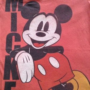 Disneyland Tops - DISNEYLAND MICKEY RED SCREEN T M ADULT NWOT