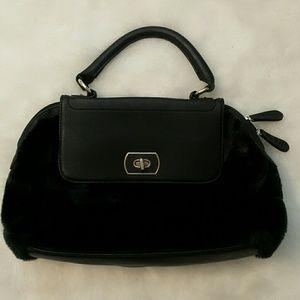 Aldo Handbags - Black faux fur aldo handbag