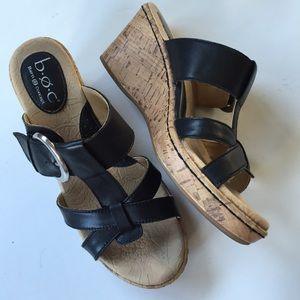 Born Shoes - EUC Born leather wedge sandals