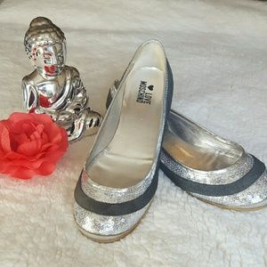 Love Moschino Shoes - Moschino silver sequence flats