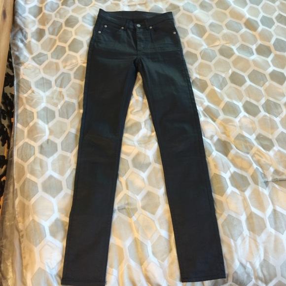 468c472b37a3 Cheap Monday Denim - EUC Cheap Monday Second Skin Coated Black Jeans