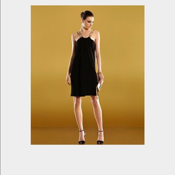 f731deba2 Gucci Dresses   Black Dress With Gold Straps   Poshmark