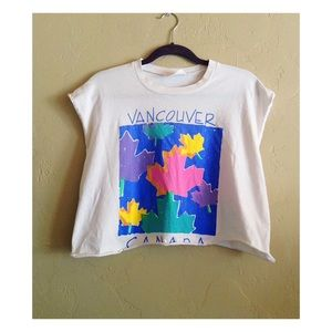 Brandy Melville Tops - Vintage Vancouver Cropped Graphic Tee