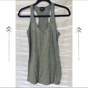 Gray Sequined Racerback Tank