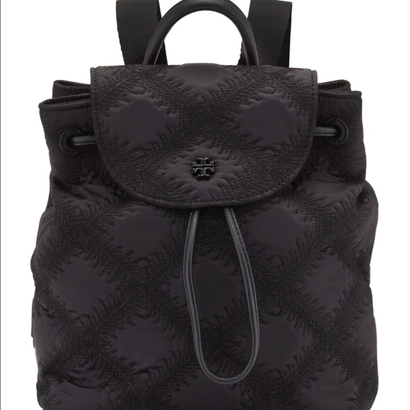 936065ffdc01 flame quilt mini tory burch backpack brand new