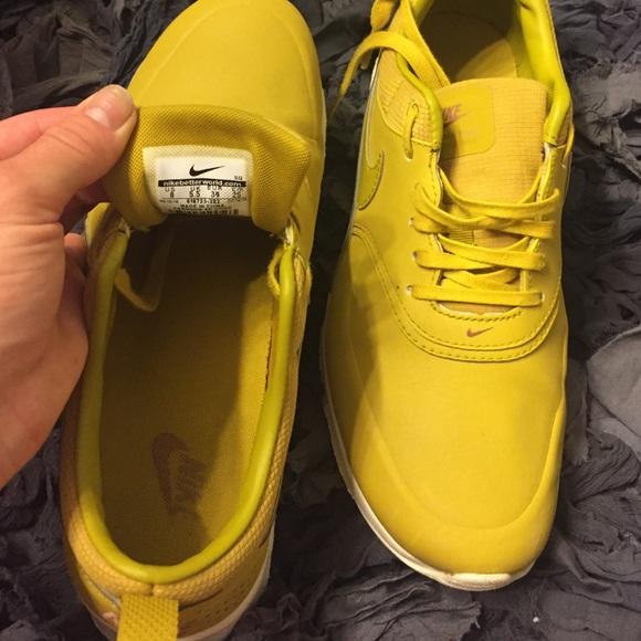Nike Shoes - Nike Air Max Thea Premium Dark Citron EUC