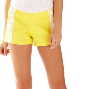 Lilly Pulitzer Pants - NWT Lilly Pulitzer Liza Short Sunglow Yellow sz 0