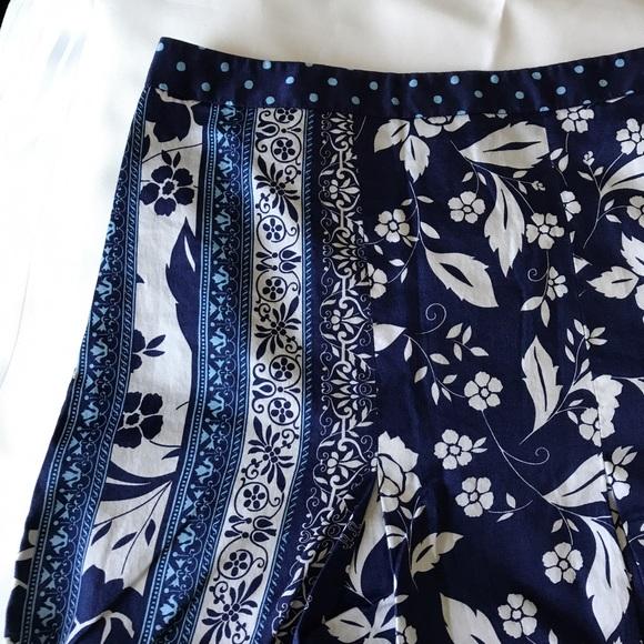 Ann Taylor Loft Ann Taylor Loft Blue Floral Pleated