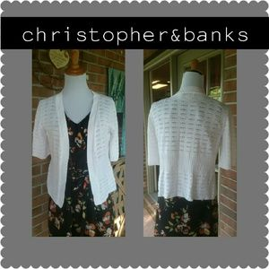 Christopher & Banks Sweaters - Christopher and Banks White Carnigan
