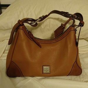 Handbags - Dooney & Bourke Harrison Leather Hobo caramel