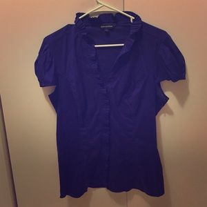 Professional cap sleeve blouse from Express