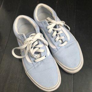 Vans Shoes - Light Blue Old Skool Vans Sneakers