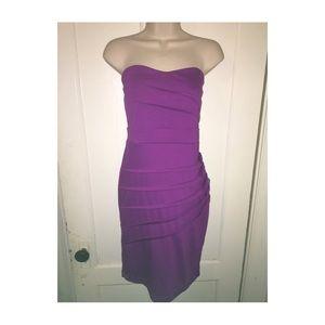 Forever 21 Purple Strapless Dress
