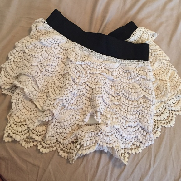 Dresses & Skirts - Two white crochet shorts!