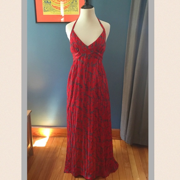 Anthropologie maple maxi dress