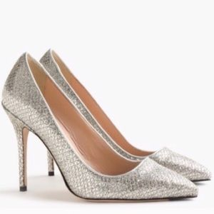 J.CREW Collection Silver Gold Pumps