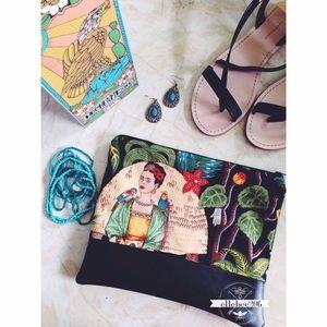 ellebee206 Handbags - #vivalafrida Frida Kahlo Clutch